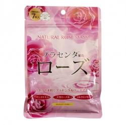 Japan Gals - Курс натуральных масок для лица с экстрактом розы, 30 шт
