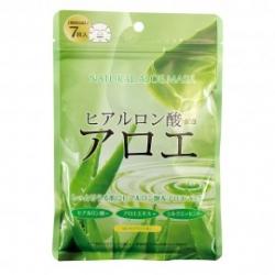 Japan Gals Курс натуральных масок для лица с экстрактом алоэ, 7 шт