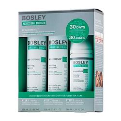 Bosley Воs Defense Starter Pack - Система для нормальных/тонких неокрашенных волос (шампунь, кондиционер, уход) 150 мл+150 мл+100 мл
