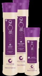 Honma Tokyo Nutriblond Solution - Набор для осветленных волос (Шампунь+Маска+Несмыв.кондиционер),2*300+150мл