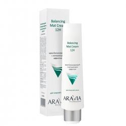 Aravia Professional Balancing Mat Cream 12H - Крем для лица балансирующий с матирующим эффектом, 100 мл