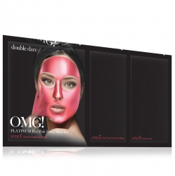 Double Dare OMG! Platinum Hot Pink Facial Mask Kit - Маска трехкомпонентная для ухода за кожей лица розовая