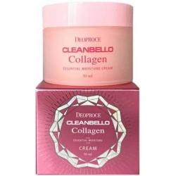 Deoproce Cleanbello Collagen Essential Moisture Cream - Крем для лица Увлажняющий с гидролизованным коллагеном, 50 мл