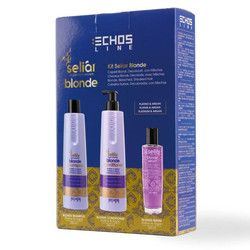 Echos Line  Seliar Blonde Kit - Подарочный набор (Шампунь,кондиционер,эликсир) 350/350/100 мл