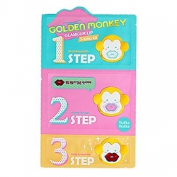 "Holika Holika Golden Monkey Glamour Lip 3-Step Kit - 3-х ступенчатый набор средств для ухода за губами ""Гламур лип"", 7г+7г+7г"