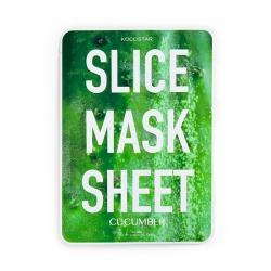 Kocostar Slice Mask Sheet Cucumber - маски в виде ломтиков огурца, пропитаны экстрактом огурца, 20 мл