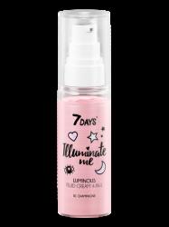 7 Days Illuminate Me Rose Girl - Сияющий крем-флюид для лица 4-в-1, 50 мл