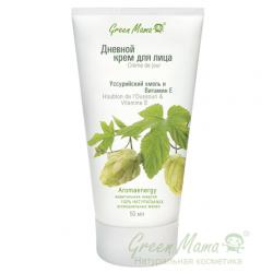 Green Mama Формула тайги - Дневной крем для лица Уссурийский хмель и витамин Е, 50 мл