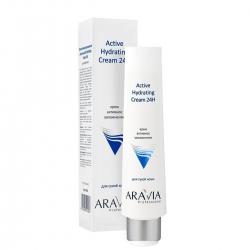 Aravia Professional Active Hydrating Cream 24H - Крем для лица активное увлажнение, 100 мл