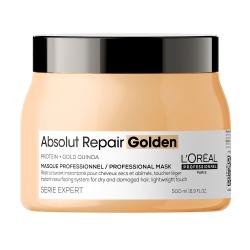 L'Oreal Professionnel Absolut Repair Gold Quinoa+Protein Golden Masque РЕНО — Маска с золотой текстурой для восстановления волос 500 мл