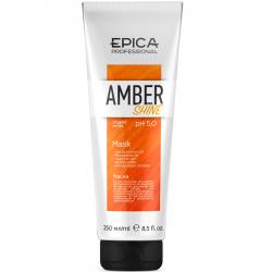 Epica Amber Shine Mask - Маска для восстановления и питания волос 250мл