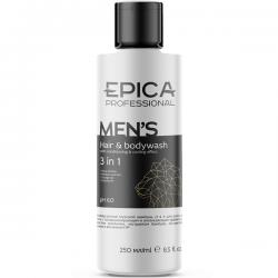 Epica Men's Hair & Bodywash 3in1 - Мужской шампунь 3в1 с охлаждающим эффектом, маслом апельсина 250мл