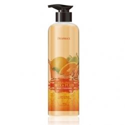 Deoproce Healing Mix & Plus Body Cleanser Lime Citrus - Гель для душа лимон и цитрус, 750 гр