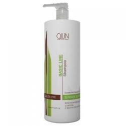 Ollin Professional Basic Line Reconstructing Shampoo Wit - Восстанавливающий шампунь с экстрактом репейника, 750 мл