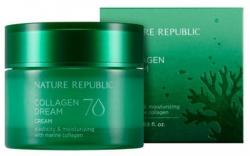 Nature Republic Collagen Dream 70 Cream - Крем с морским коллагеном увлажняющий, 50мл