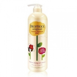 Deoproce Original Essence 2 in 1 Shampoo Camellia -  Шампунь-бальзам 2 в 1 с маслом камелии, 1000 мл