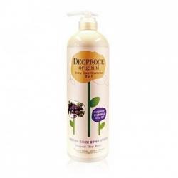 Deoproce Original Shiny Care 2 in 1 Shampoo Blueberry - Шампунь-бальзам 2 в 1 с черникой для блеска волос, 1000 мл