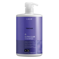 Lakme Teknia Ultra clair shampoo - шампунь тонирующий для светлых оттенков волос 1000 мл