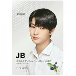 It's Skin JB Blueberry Mask Sheet - Подтягивающая тканевая маска, черника, 19 мл
