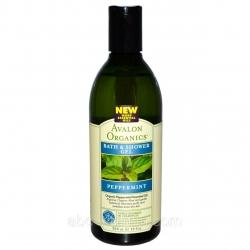 Avalon Organics Peppermint Bath & Shower Gel – Гель для душа Мята, 355 мл