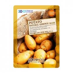 FoodaHolic Potato Natural Essence 3D Mask - Тканевая 3Д маска для лица с натуральным экстрактом картофеля, 23г