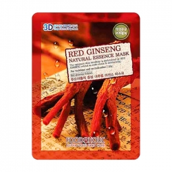 FoodaHolic Red Ginseng Natural Essence 3D Mask - Тканевая 3Д маска для лица с натуральным экстрактом красного женьшеня, 23г