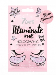 7 Days Illuminate Me Rose Girl - Голографические гидрогелевые патчи для глаз, 2,36г