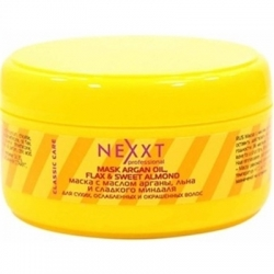 Nexxt Professional Mask with Oil Argan, Flax and Sweet Almond - Маска с маслом арганы, льна и сладкого миндаля, 200 мл