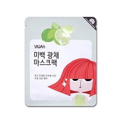 Yadah Brightening Mask Pack - Маска для лица осветляющая на тканевой основе, 25 г