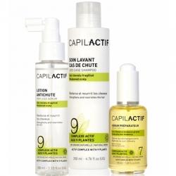 Coiffance Capil Actif - Набор против выпадения волос для чувствительной кожи головы (сыворотка + шампунь + лосьон), 1 шт