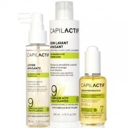 Coiffance Capil Actif - Набор успакаивающий раздраженную кожу головы (сыворотка + шампунь + лосьон), 1 шт