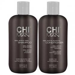 CHI Man Daily Active Clean - Набор для мужчин: шампунь, кондиционер Набор: шампунь, 350 мл + кондиционер, 350 мл