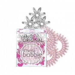 Invisibobble Nano&Original Bee Mine - Резинка для волос розовое золото/прозрачный, 6 шт