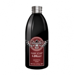 Kondor Hair and Body Hair Soap Chilli - Шампунь для мужчин стимулирующий с экстрактом перца чили, 300 мл