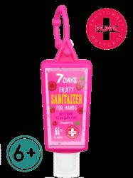 7 Days Raspberry - Детский гель для рук c антисептическим эффектом 6+, 30 мл