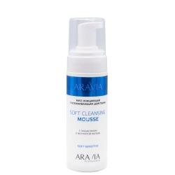 Aravia Professional Soft Cleansing Mousse - Мусс очищающий с успокаивающим действием, 160 мл
