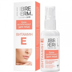 Librederm Vitamin E Cream-Antioxidant For Face Витамин Е - Крем-антиоксидант для лица 50мл