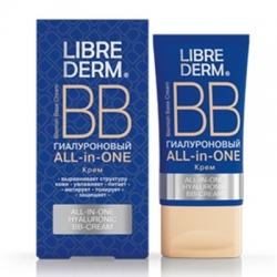 Librederm All-in-One Hyaluronic BB-Cream - ВВ-крем гиалуроновый, 50 мл