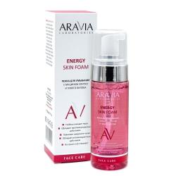 Aravia Laboratories Energy Skin Foam - Пенка для умывания с муцином улитки и гинкго билоба, 150мл