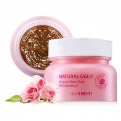 The Saem Natural Daily Original Rose Mask - Увлажняющая маска с лепестками роз, 100 г