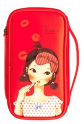 Fascy Pungseon Tina PU Beauty Pouch (red) - Косметичка