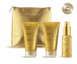 Miriam Quevedo The Sublime Gold Deluxe Travel Edition Kit - Золотой набор для путешествия, 2 х 50 мл, 30 мл. Общий объем: 130 мл
