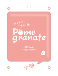 Mijin MJ Care Pomegranate Mask - Маска тканевая с гранатом, 22 г