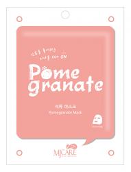 Mijin MJ Care Pomegranate Mask - Маска тканевая с гранатом, 22 г