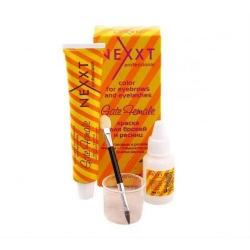 Nexxt Professional - Набор для бровей и ресниц коричневая, 20 мл+10 мл