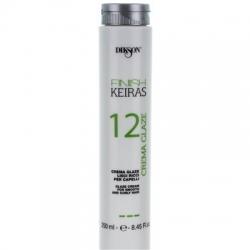 Dikson Keiras Finish Crema Glaze 12 - Глазурь для гладких и кудрявых волос, 250 мл