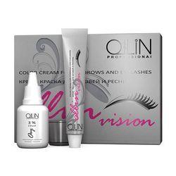 Ollin Vision Set brown - Крем-краска для бровей и ресниц 20мл (в наборе)
