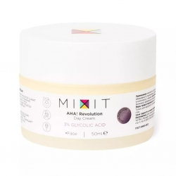 MIXIT AHA! Revolution Day Cream 3% Glycolic Acid SPF15 - Дневной крем для лица с гликолевой кислотой 3% SPF15, 50мл