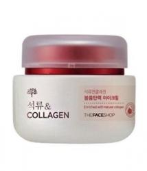 The Face Shop Pomegranate & Collagen Volume Lifting Eye Cream - Лифтинг-крем с гранатом и коллагеном для кожи вокруг глаз, 50 мл