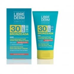 Librederm Bronzeada - Крем солнцезащитный SPF30 с Омега 3-6-9 и термальной водой, 150 мл